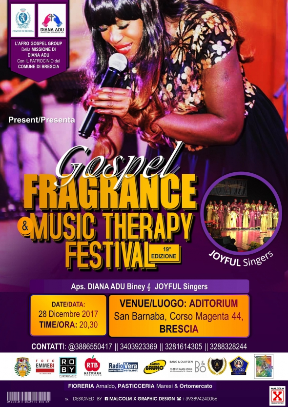 INVITO AL GOSPEL FRAGRANCE AND MUSIC THERAPY FESTIVAL - 19* EDIZIONE