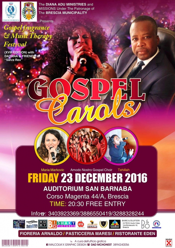 GOSPEL & CAROLS AT THE 18TH GOSPEL FRAGRANCE & MUSIC THERAPY FESTIVAL